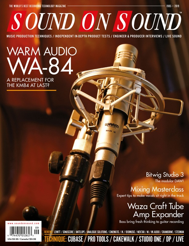 WA-84 Featured on Sound on Sound September Cover | Warm Audio